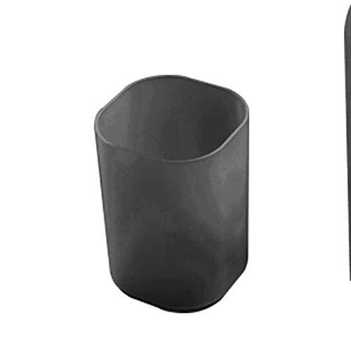 ORGANIZADOR DE DESKTOP Holder Pluma Maquillaje Caja de almacenamiento Multifuncional Plástico Pluma Box Escritorio Organizador de Lápiz Escuela Oficina Papelería (Color : Black)