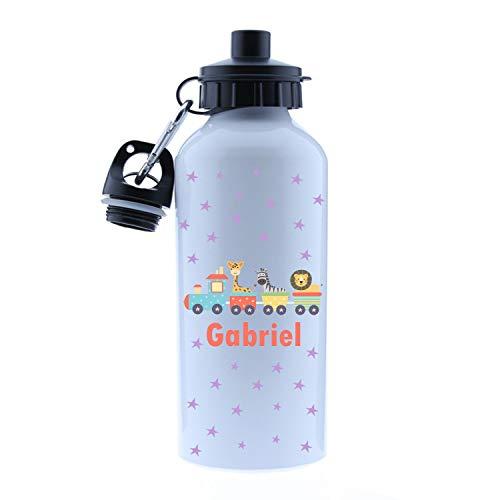 Kembilove - Borraccia per bambini, in alluminio, personalizzabile con nome del bambino o bambina, capacità 500 ml, motivo unicorno, Topolino, Minnie,