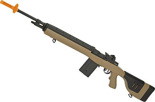 Evike Airsoft - CYMA Sport Airsoft M14 DMR AEG Rifle (Color: Tan)