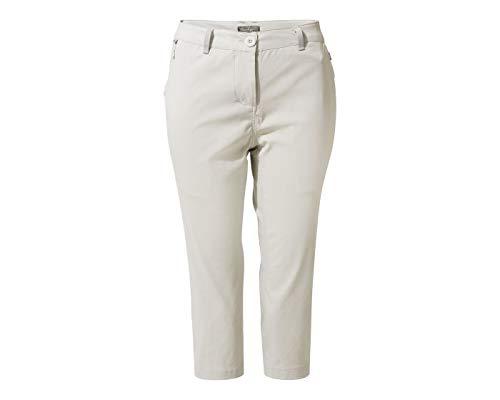 Craghoppers Kiwi Pro Crop pour femme 18 (44 EU) Taille Fabricant : 2XL gris tourterelle