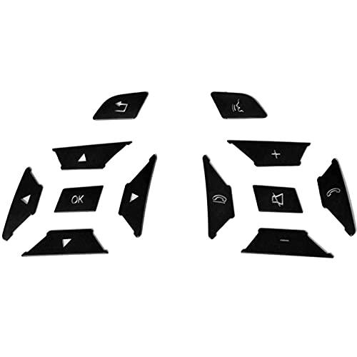 Etiqueta engomada de la Cubierta del Ajuste del Interruptor del botón del Volante del Coche, para Mercedes Benz a BCE Ml GL Cla Gla Glk SL Class W176 W212 W204