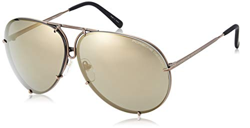 Porsche Design P8478 E 66mm Sunglasses Copper Frame Interchangeable Lenses