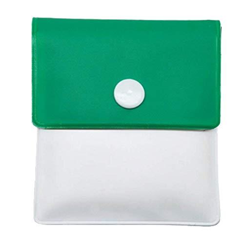 OuYou Ceniceros de Bolsillo Portátil Bolsa de Ceniza Compacta Incombustible de Plástico Inodoro Colores Surtidos (Verde)