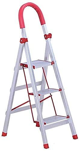 XIAOYU Scaletta multipurposudente, Scala ad Alto corrimano a Tre Step Ladder Quattro gradini da Costruzione Ladder Teatro Fotografico Studio Stepladders