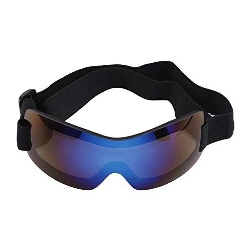 Smandy Hundesonnenbrille Hundebrillen Sonnenschutz Brillen wasserdichte UV Sonnenbrillen Schutzbrille für Haustier Hunde(Blau)