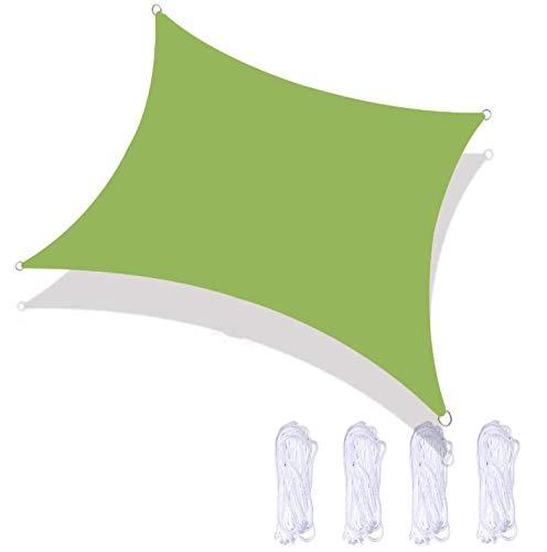 ququer Velas de Sombra Velas de protección Solar Velas de toldo Tela para toldo Impermeable y protección UV 98% de protección UV Toldo de Camping