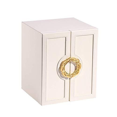 YZHM Caja de joyería de Cuero, Regalo para Mujeres, Organizador de Almacenamiento de Joyas, con Caja de contenedores de joyería de partición, con 5 Capas (Color: Azul)