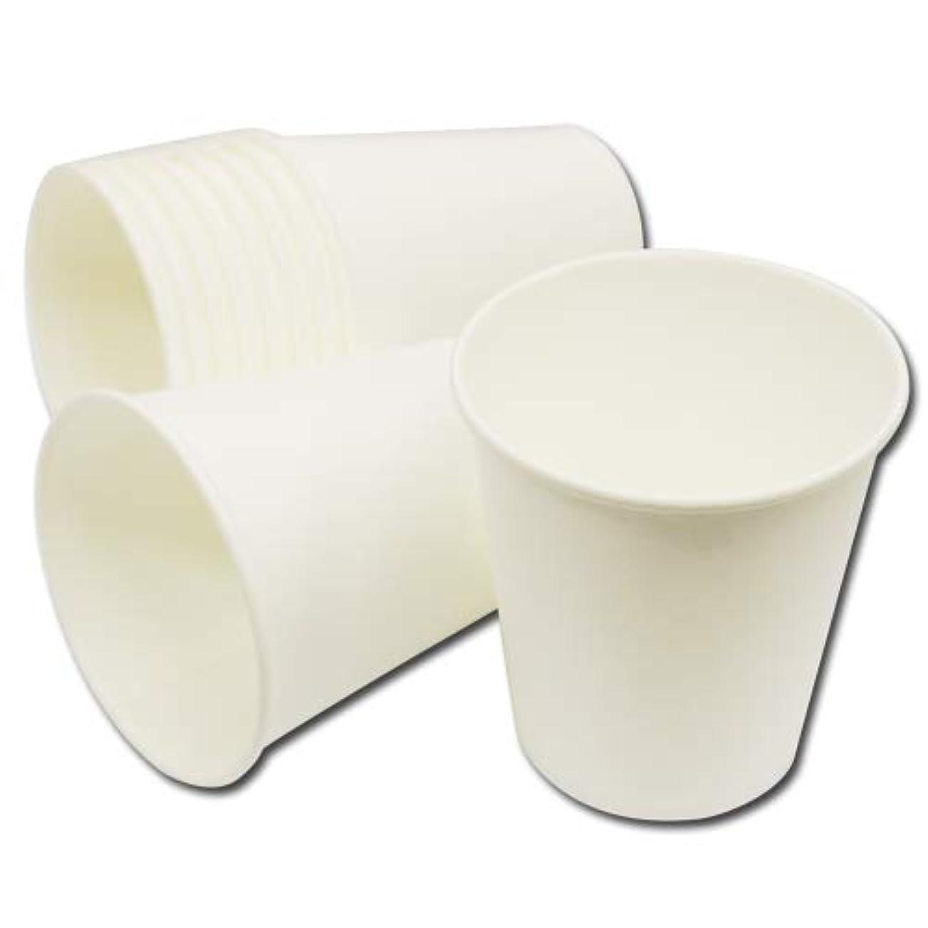 なぞらえるインレイ基礎業務用 紙コップ 7オンス(約205ml) 無地ホワイト 2400個入│温冷両用 カップ ペーパーカップ