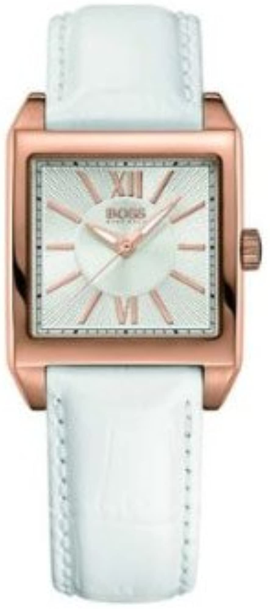 Hugo boss ,orologio per donna,cassa in acciaio inossidabile e cinturino in vera pelle 1502239