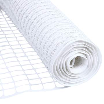 Houseables Dog Fence, Garden Fencing, 4' x 50', 1 Pack, White, Plastic, Mesh, Poultry Netting, Animal Barrier, Temporary Fences, for Above Ground Pool, Pet, Deer, Chicken, Snow, Dogs, Rabbit, Safety
