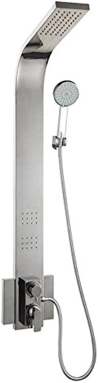 Gyps Faucet Waschtisch-Einhebelmischer Waschtischarmatur BadarmaturDie Ultra-Low 304 Edelstahl Regendusche, Warmes und Kaltes Leitungswasser Mischen Ventil B Dusche,Mischbatterie Waschbecken