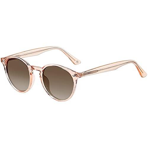 H HELMUT JUST Gafas de Sol para Mujer Redondas Polarizadas Vintage TR90...