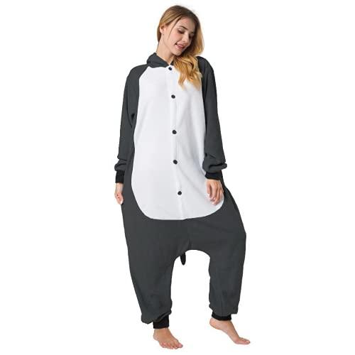 Katara 1744 - Maus Kostüm-Anzug Onesie/Jumpsuit Einteiler Body für Erwachsene Damen Herren als Pyjama oder Schlafanzug Unisex - viele Verschiedene Tiere