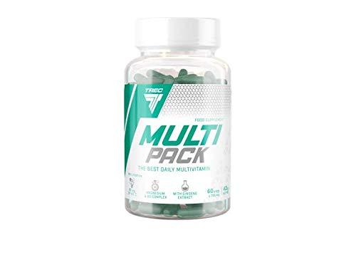 Trec Nutrition Multi Pack Komplexe Zusammensetzung Von Vitaminen Und Mineralien Aktiviert Den Stoffwechsel Energie Bodybuilding 60 Tabletten