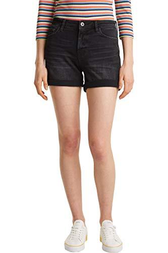 edc by ESPRIT Damen 030CC1C309 Shorts, 911/BLACK Dark WASH, 33