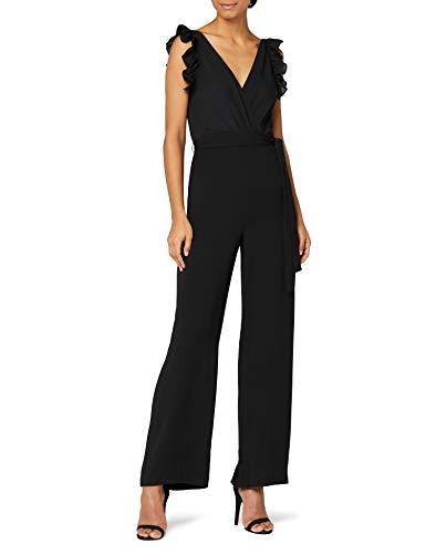 Amazon-Marke: Truth & Fable Damen Jumpsuit, Schwarz (BLACK BLACK), 40, Label:L