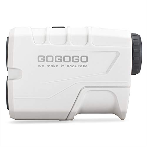 Gogogo Sport Vpro Golf Rangefinder 900 Yards Slope Laser Range Finder with Pinsensor 6X Magnification, Pulse Tech - Compact & Accurate & Clear Reading Yardage Rangefinder