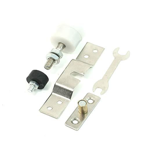 New Lon0167 Conjunto de Destacados rodillos para puerta eficacia confiable corredera de armario para dormitorio, tono plateado blanco(id:ca2 90 1d 77d)