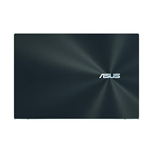 "Product Image 1: ASUS ZenBook Pro Duo UX581 Laptop, 15.6"" 4K UHD NanoEdge Touch Display, Intel Core i7-10750H, 16GB RAM, 1TB PCIe SSD, GeForce RTX 2060, ScreenPad Plus, Windows 10 Pro, Celestial Blue, UX581LV-XS74T"