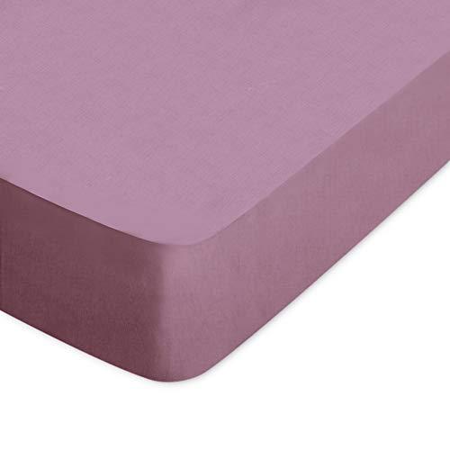 Hoeslaken, 160 x 210 cm, envelop 40 cm, 100% katoen, Alto, violet