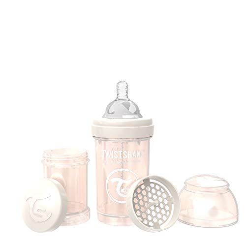 Twistshake Anti-Colic Bottles for Baby Care, Bottle Food Products (180ml/6oz) (Pearl Champagne)