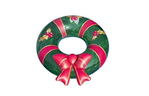 Swimline Christmas Wreath Inflatable Pool Ring, Multi, One Size