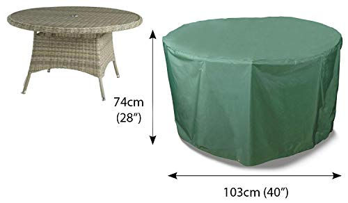 Bosmere Cover Up 4 Seat Circular Table Cover, Green, C540