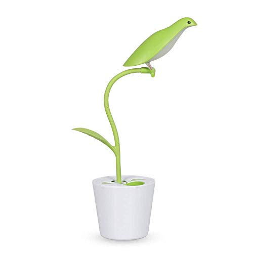 Lámpara de mesa de lectura de pájaros lámpara de escritorio USB de carga creativa lámpara de escritorio USB portátil lámpara de mesita de noche con lámpara de escritorio con batería - adecua