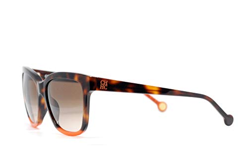 Carolina Herrera Gafas de Sol Mujer SHE7445309AJ (Diametro 53 mm), Marron, 53/18/135 Unisex-Adult