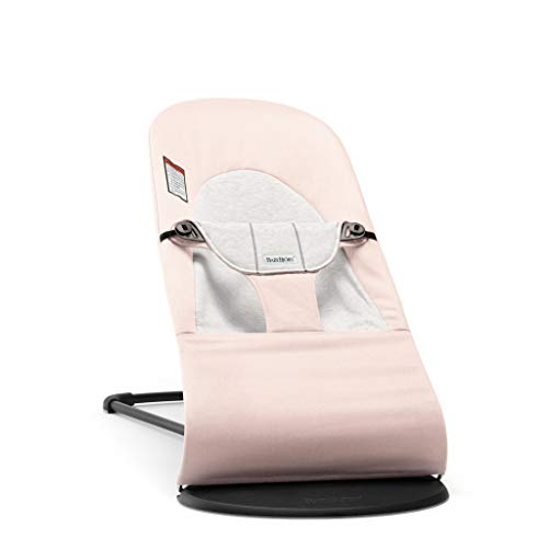 BABYBJORN Bouncer Balance Soft - Light Pink/Gray, Jersey Cotton