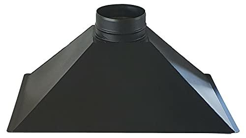 Campana extractora para chimenea, chimenea, leña y barbacoa, salida de humos (salida de humos, diámetro de 20 cm)