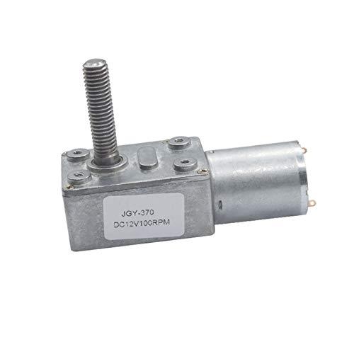 Auart Zyilei- Motor Gleichstrom Hoher Drehmoment elektrischer DC-Wurm-Getriebemotor, M8 * 33mm Gewindewelle 6V 12V 24V 6-150RPM, Verschleißfest (Speed(RPM) : 30rpm, Voltage(V) : 12V)
