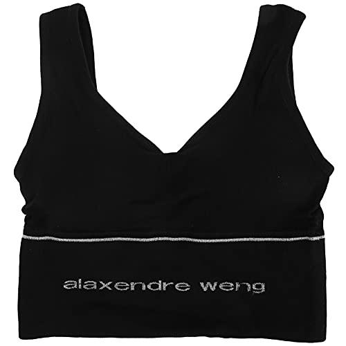 Sujetador deportivo para mujer, sujetador deportivo acolchado inalámbrico para mujer, sujetador con espalda en U suave y transpirable, relleno extraíble, para yoga, gimnasio, fitness(negro)