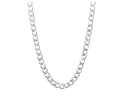 Verona Jewelers 4.5MM Italian 925 Sterling Silver Classic Curb Cuban Chain Necklace- Silver Curb Necklace Made in Italy (22)
