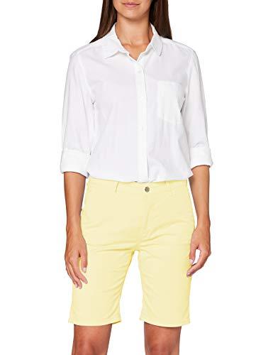 MAC Jeans Chino Shorts Pantalones Cortos, Amarillo (Pastell Yellow PPT 504r), W40 (Talla del Fabricante: 40/09) para Mujer