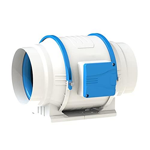 Release 4/6 Pulgadas Control Remoto inalámbrico de una Sola Velocidad Ventilador de conducto en línea silencioso Extractor de Aire Ventilación de Escape (Size : 6 Inches)