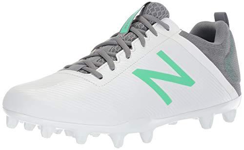New Balance Women's Draw V1 TPU Molded Lacrosse Shoe, White/Emerald, 11 B US