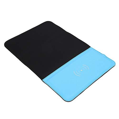 ROMACK Alfombrilla de ratón, Cargador rápido multifunción con Bolsa de Almacenamiento para el Estudio de Escritorio de la Empresa, Biblioteca, Escuela, Restaurante(Blue)