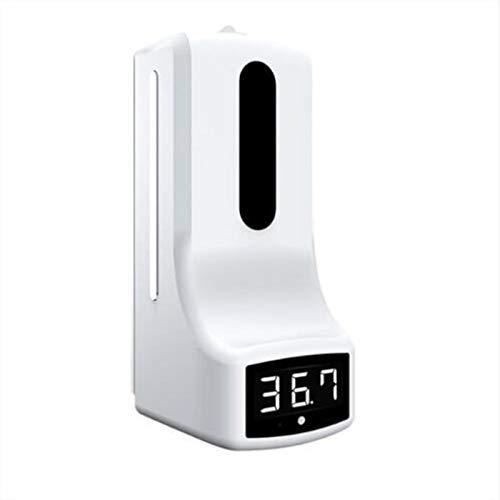 Dispensador de jabón 1000ml K9-dos en uno Termómetro, de pared dispensador de jabón con el termómetro, sin contacto medición de temperatura, con alarma, utilizará en varios lugares sin contacto de
