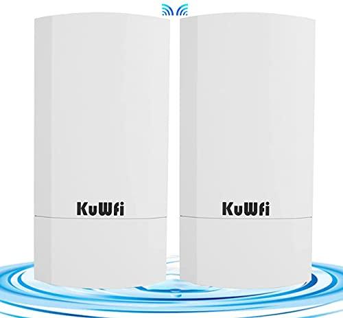 WLAN Repeater, 300Mbps Indoor & Outdoor Punkt-zu-Punkt-Wireless CPE Unterstützt 1KM Übertragungsentfernung Lösung für PTP, PTMP-Anwendung Wireless Access Point/Bridge-Kit mit LED-Anzeige