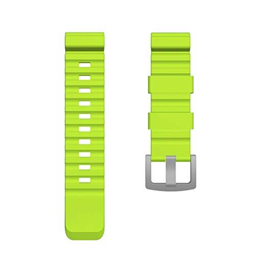 BAAIFC Correa de reloj colorida de 24 mm para reloj North Edge Active Smart Watch Correa para reloj Samsung Galaxy Watch para Huawei de repuesto (Color de la correa: verde, ancho de la correa: 24 mm)