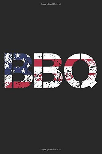 BBQ: A5 Notizbuch, 120 Seiten liniert, Grillen Griller Grill Grillmeister BBQ Barbecue USA Flagge Amerika