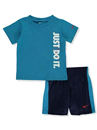 Nike Baby Boys' 2-Piece Shorts Set Outfit - Midnight Navy, 12 Months