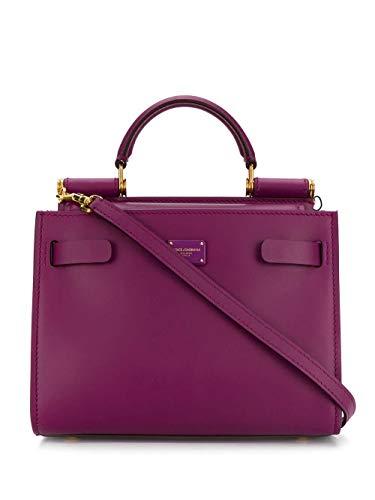 Moda De Lujo | Dolce E Gabbana Mujer BB6836AV3858H315 Morado Cuero Bolso De Mano | Temporada Permanente