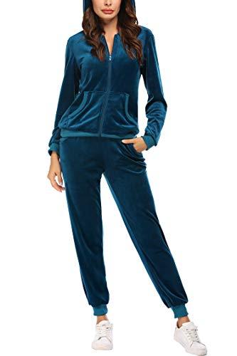 Unibelle Damen Jogging Anzug Jacke Sport Hose Fitness Hoodie Hose Einfarbig