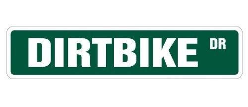 "annastoree Dirtbike Crossbike Street Racer Racing Sign Cross Signs regalo 4""x18Inches"