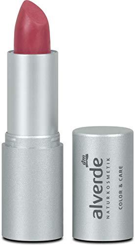 alverde NATURKOSMETIK Lippenstift Color & Care, 4,6 g (Cherry 08)