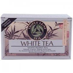 Triple Leaf Tea - Triple Leaf Tea White Tea - 20 Tea Bags - Case of 6