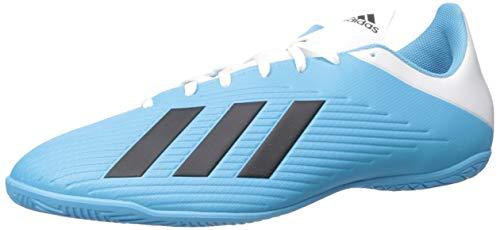 adidas Men's X 19.4 Indoor Soccer Shoe, Bright Cyan/Black/Shock Pink, 13 M US