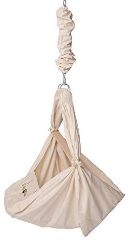 BabyBubu Veerwieg 3-in-1 - Babyhangmat, hangstoel & wieg in één, tot 16 kg belastbaar, met upgrade tot 31 kg uitbreidbaar, het schommelende babybed, 100% katoen en schaapswol matras, ontwikkeld in Duitsland